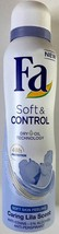 Fa SOFT & CONTROL: Caring Lila Scent deodorant spray 150ml- Made in Germany - $6.29