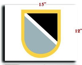 US Army Flash -1st Special Warfare Training Group (Airborne) 1 CANVAS art pri... - $20.78