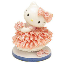 Hello Kitty Pottery Ceramic Lace Doll Stuffed Japan original Plush Figur... - $315.00