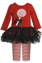 Bonnie Jean Baby 3M-24M Red Black Lollipop Applique Tutu Dress / Legging Set ...