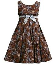 Bonnie Jean Girls 2T-6X Brown Blue White Smocked Waist Butterfly Print Dress ...