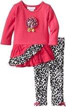 Bonnie Baby Baby Girls' Ruffle Skirt Corduroy Legging Set (0-3 Months, Fuchsia)