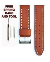 Fossil JR1486 24mm Brown Leather Watch Strap Band FSL112 - $28.71
