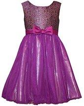 Bonnie Jean Little Girls Brocade Ballerina Dress (6x, Purple) [Apparel]