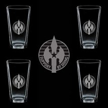 Us Army 220th Military Police Brigade Dui 4 Glass Set - $34.64