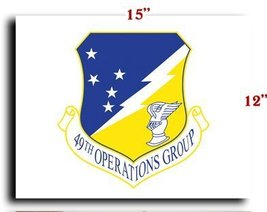 Air Force USAF 49th Operations GRoup CANVAS art print framed stretched 1... - $20.78
