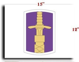 """US Army 321st Civil Affairs Brigade SSI CANVAS art print framed stretched 15""""... - $20.78"""