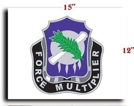 US Army 486th Civil Affairs Battalion DUI CANVAS art print framed stretched 1... - $20.78