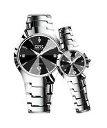Lovers, Love Couple Quartz Stainless Steel Watch in Beautiful Black or S... - $59.95