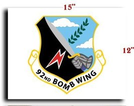 """Air Force USAF 92nd Bomb Wing CANVAS art print framed stretched 15""""x12"""" - $20.78"""