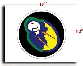 """Air Force USAF 92nd Fighter Squadron CANVAS art print framed stretched 15""""x12"""" - $20.78"""