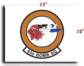 "Air Force USAF 93d Bomb Squadron CANVAS art print framed stretched 15""x12"" - $20.78"