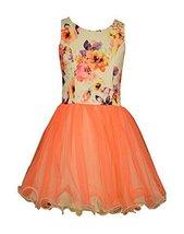 Bonnie Jean Big Girls Party Dress with Printed Bodice, Orange/Multi, 7 [Apparel]