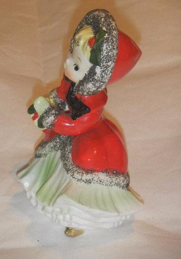 Vintage s napco little girl shopping figurine