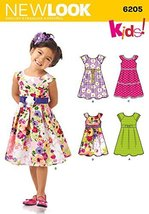 Simplicity Creative Patterns New Look 6205 Child's Dress, A (3-4-5-6-7-8) - $5.27