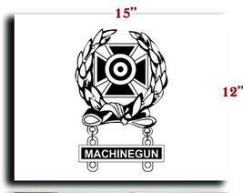 US Army Badge Marksman Badge Expert w Machinegun Qualification Bar CANVAS art... - $20.78
