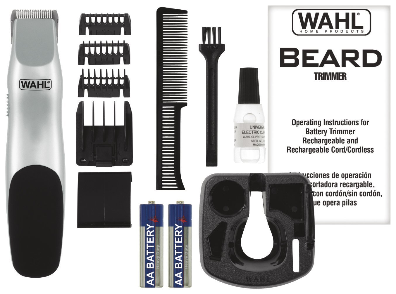 wahl beard battery trimmer 9906 717 clippers trimmers. Black Bedroom Furniture Sets. Home Design Ideas