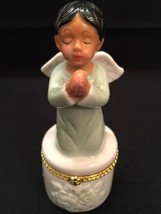 "Angel Porcelain Religions Hinged Box Greenbrier International ""Praying Angel"" - $15.47"