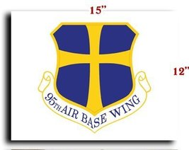 """Air Force USAF 95th Air Base Wing CANVAS art print framed stretched 15""""x12"""" - $20.78"""