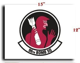"""Air Force USAF 96th Bomb Squadron CANVAS art print framed stretched 15""""x12"""" - $20.78"""