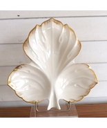Lenox Dish Cream with Gold Trim Leaf-Shaped Made in USA - $24.99