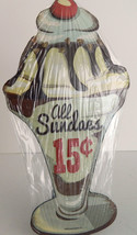 Old Fashion Sundaes Antique Style Metal Wall Plaque Sign Home Decor - $16.00