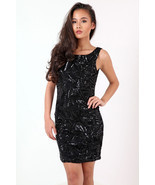 New Womens Ladies Scoop Back Sequin Party Dress UK Size 8-14 - $10.72