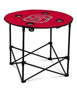 NC State Wolfpack Collapsible Round Table with 4 Cup Holders and Carry Bag - $39.28