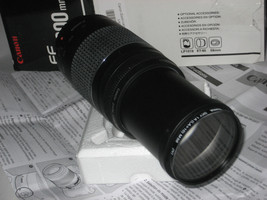 CANON ZOOM LENS EF 75-300MM 1:4-5.6 III bundle w Hama Filter 1A(LA+10)M5... - $93.49