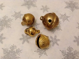 Polar Gold Brass Lot of 4 Santa Sleigh bells GREAT for Xmas Morning surprise - $49.49