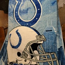 Indianapolis Colts License Fleece Throw Blanket 50''x 60'' by Northwest - $16.99