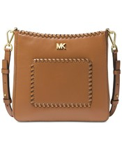 H62 MICHAEL Michael Kors Brown Gloria Pocket Swing Pack (Acorn) Handbag - $124.59