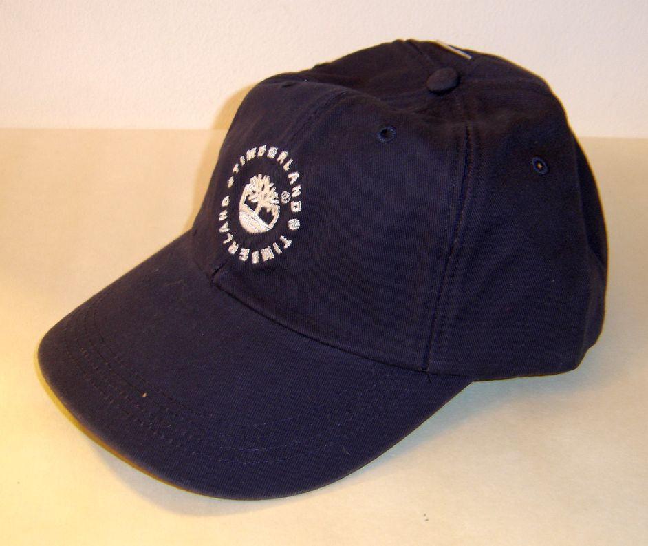 nwt timberland baseball cap hat adjustable blue w white
