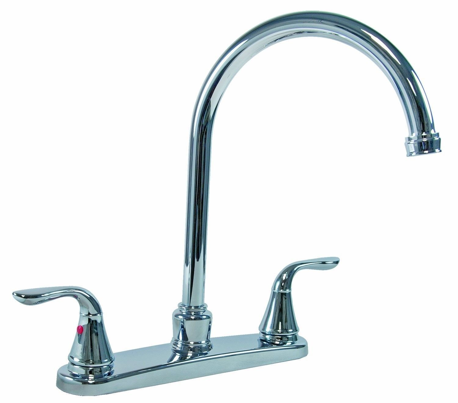 "2 Handle Kitchen Faucet W/ 8"" Gooseneck Spout & Matching"