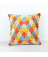 Ikat cushion Velvet ıkat pillows colorful ikat pillow silk pillow  - $85.00