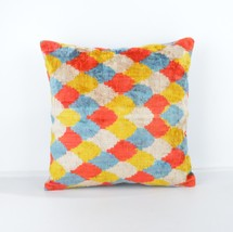 Velvet silk ıkat pillows colorful ikat pillow ... - $39.90