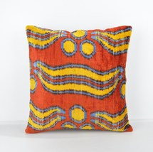 16x16 Ikat cushion Decorative ıkat cusihon  pillow ikat silk pillow 16x1... - $39.90