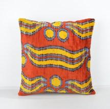 16x16 Ikat cushion Decorative ıkat cusihon  pillow ikat silk pillow 16x16 inch - $39.90