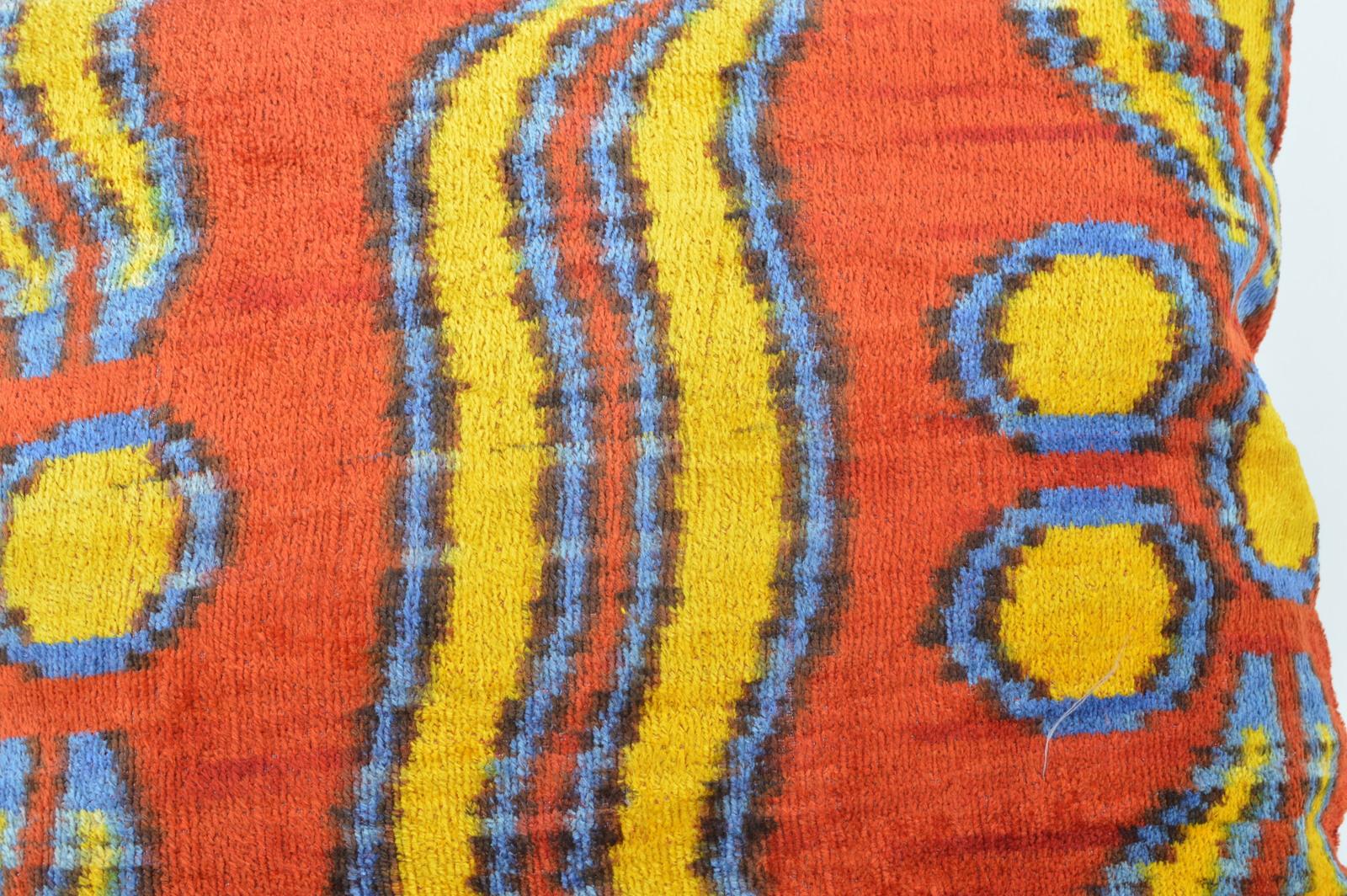 16x16 Ikat cushion Decorative ıkat cusihon  pillow ikat silk pillow 16x16 inch