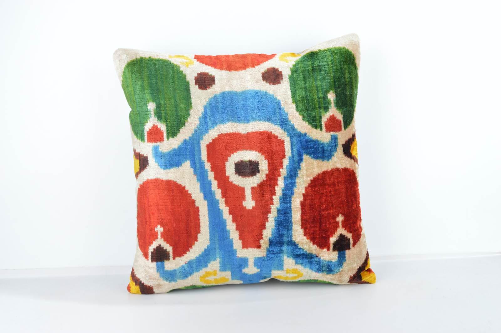 16x16 Ikat pillows Decorative ıkat pillow  pillow ikat silk pillow 16x16 inch