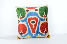 16x16 Ikat pillows Decorative ıkat pillow  pillow ikat silk pillow 16x16 inch image 3
