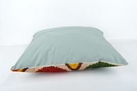 16x16 Ikat pillows Decorative ıkat pillow  pillow ikat silk pillow 16x16 inch image 4