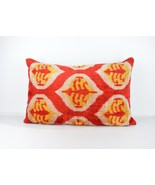 Ikat Velvet Pillow Cover 16x24 lumbar Silk Velvet Ikat Pillow , velvet l... - $49.90