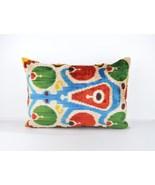 ethnic pillows 16x24 lumbar Silk Velvet Pillow,velvet lumbar pillows,ika... - $49.90