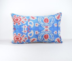ethnic pillows 16x24 lumbar Silk Velvet Pillow,velvet lumbar pillows,ika... - $49.90