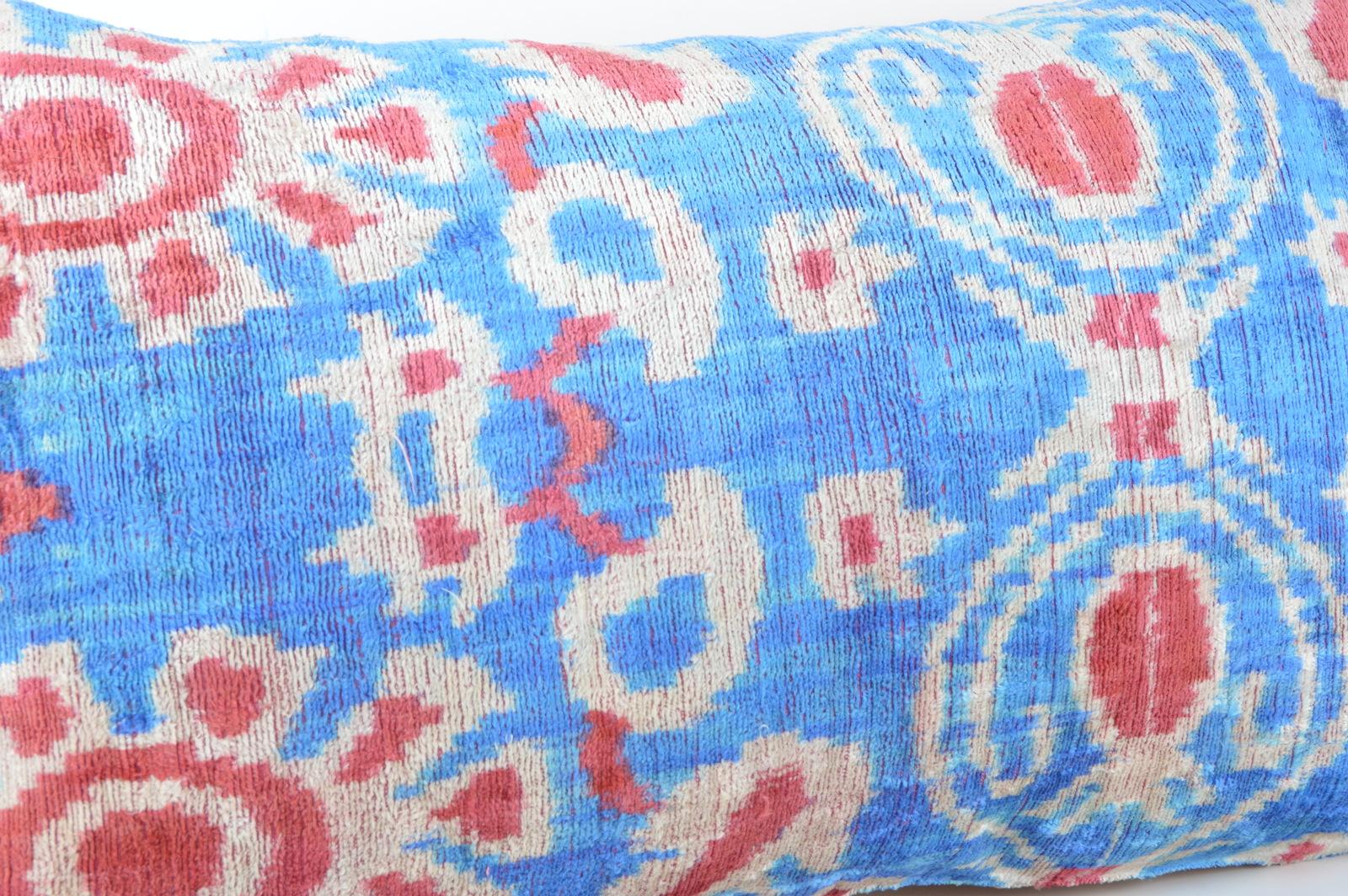 ethnic pillows 16x24 lumbar Silk Velvet Pillow,velvet lumbar pillows,ikat sham