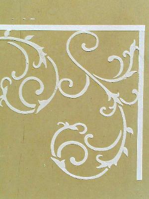 Plaster stencil wrought iron