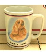 Coffee Mup Cup Cocker Spaniel Dog Ceramic - $9.50