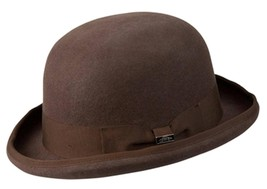 NEW Conner Hats Australian Wool Traditional Tuxedo BOWLER DERBY Hat Brow... - €51,30 EUR