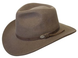 9628a0254fa11 NEW Conner Men  39 s CRUSHABLE Water Proof WOOL Aussie Cowboy Hat Brown  C1001